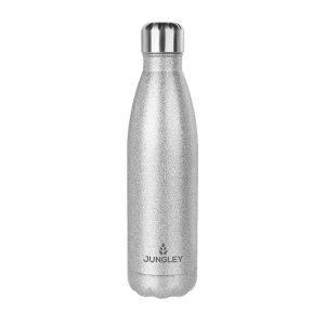 Glitter Insulated Water Bottle - Silver