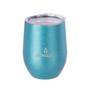 Glitter Stemless Wine Insulated Tumbler - Blue