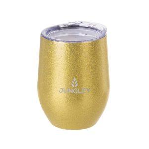 Glitter Stemless Wine Insulated Tumbler - Gold