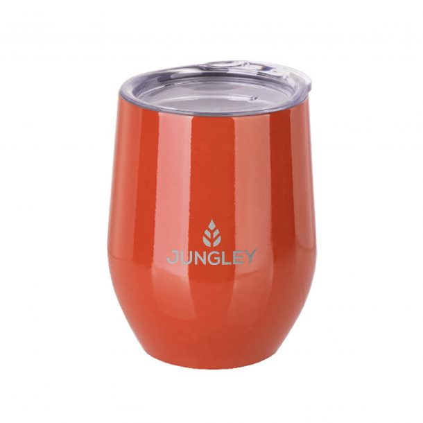 Gloss Stemless Wine Insulated Tumbler - Orange