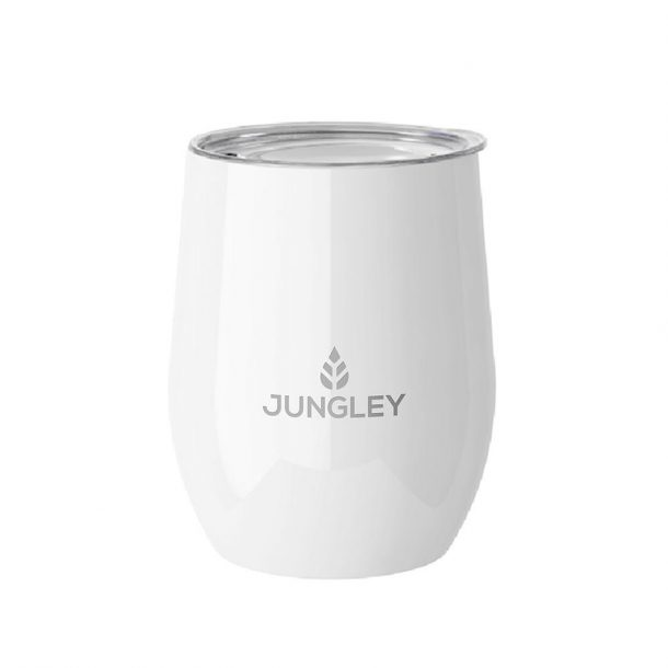 Gloss Stemless Wine Insulated Tumbler - White