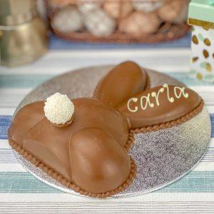 Personalised Belgian Chocolate Smash Bunny Bum
