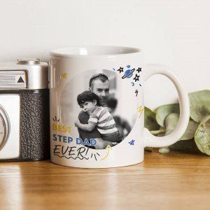 Personalised Best Step Dad Ever Photo Upload Mug