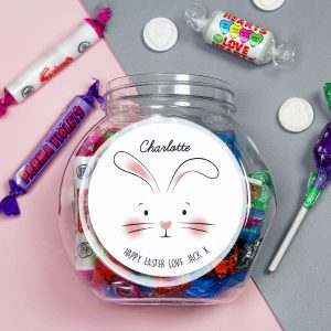 Personalised Bunny Features Sweets Jar