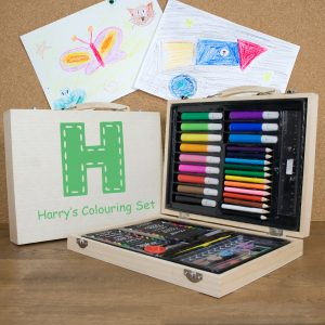 Personalised Children's Colouring Set - Green
