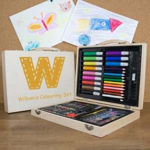 Personalised Children's Colouring Set - Orange