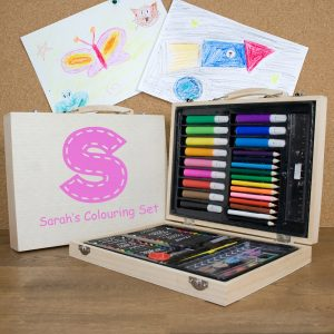 Personalised Children's Colouring Set - Pink