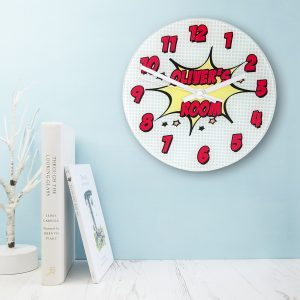 Personalised Comic Wall Clock - Large