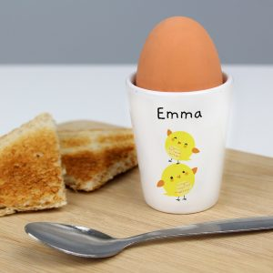 Personalised Easter Chicks Egg Cup