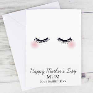 Personalised Eyelashes Card