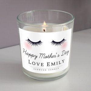 Personalised Eyelashes Scented Jar Candle