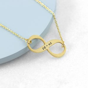 Personalised Gold Infinity Twist Necklace