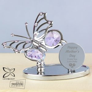 Personalised Happy Mothers Day Crystocraft Butterfly