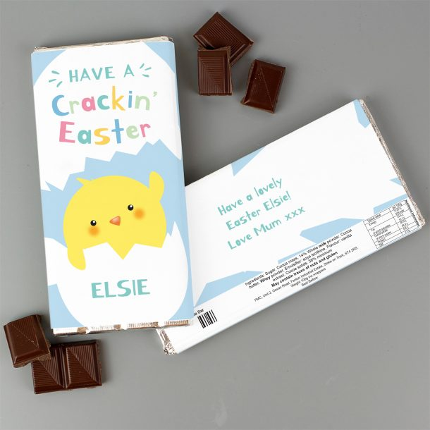 Personalised Have A Cracking Easter Milk Chocolate Bar