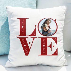 Personalised LOVE Photo Upload Cushion