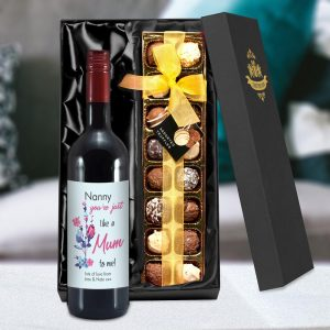 Personalised Like A Mum To Me Red Wine & Truffles