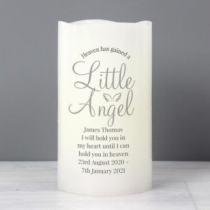 Personalised Little Angel LED Candle