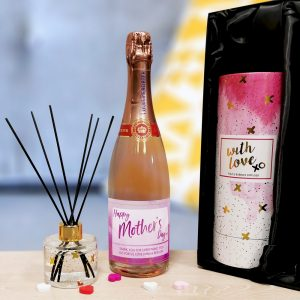 Personalised Mother's Day Rosé & Reed Diffuser Gift Set