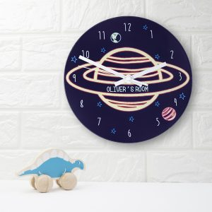 Personalised Out Of This World Glass Clock - Large