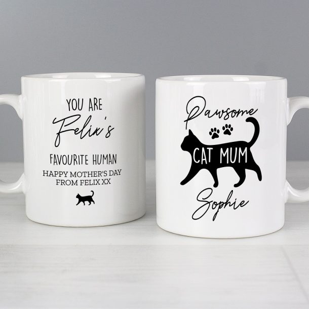 Personalised Pawsome Cat Mum Mug