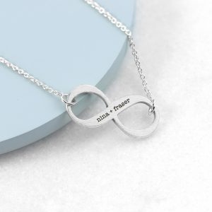 Personalised Silver Infinity Twist Necklace