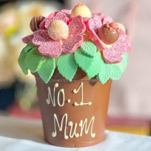 Personalised Smash Pink Flower Pot - Large