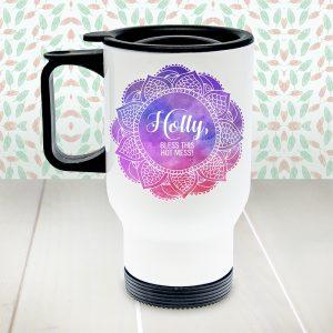 Personalised Spirited Travel Mug