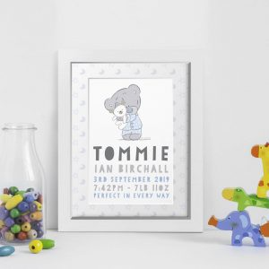 Personalised Tiny Tatty Teddy New Baby Framed Print