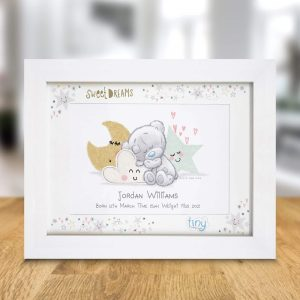 Personalised Tiny Tatty Teddy Sweet Dreams A4 Framed Print