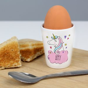 Personalised Unicorn Egg Cup