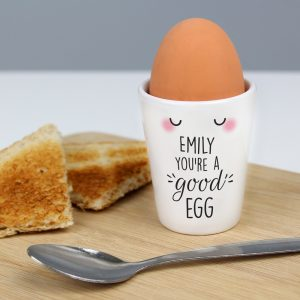 Personalised You're A Good Egg Cup
