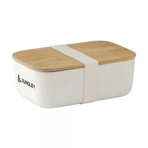 Recycled Bamboo White Lunch Box
