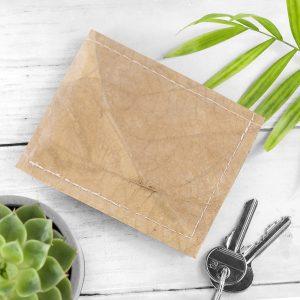 Vegan Leaf Leather Men's Wallet in Natural