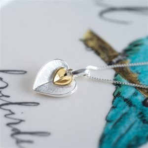 Double Heart Necklace & Personalised Gift Box