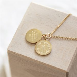 Floral Pendant Necklace & Personalised Gift Box