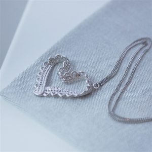 Lace Heart Necklace & Gift Box