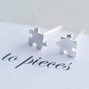 Love You To Pieces Stud Earrings & Gift Box