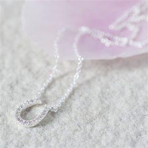 Lucky Horseshoe Necklace & Personalised Gift Box