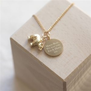 Mama Bear Necklace & Personalised Gift Box