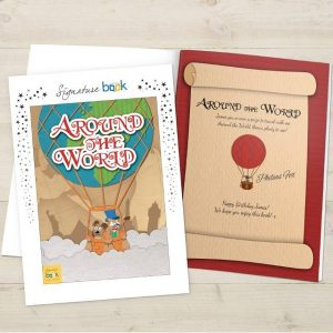 Personalised Around the World Book Softback Book