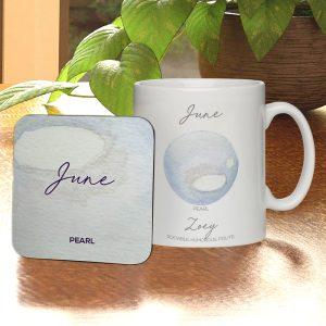 Personalised Birthstone Mug & Coaster Set