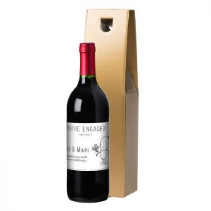 Personalised Chilli & Bubbles Engagement Red Wine & Gold Gift Box