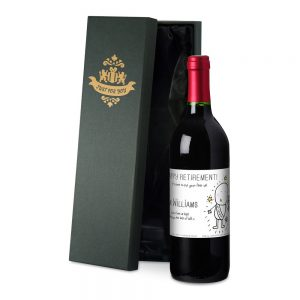 Personalised Chilli & Bubbles Retirement Red Wine & Silk Lined Gift Box