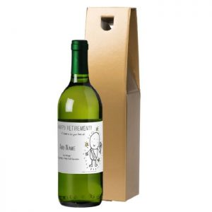Personalised Chilli & Bubbles Retirement White Wine & Gold Gift Box