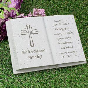Personalised Cross Memorial Book