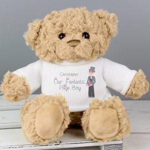 Personalised Fabulous Page Boy Teddy Bear