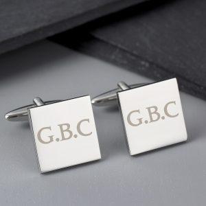 Personalised Initials Square Cufflinks