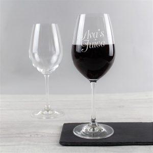 Personalised 'Juice' Wine Glass
