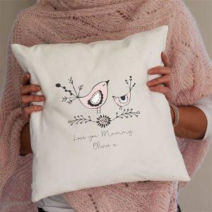Personalised Mummy Bird Cushion