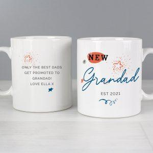 Personalised New Dad Grandad Mug